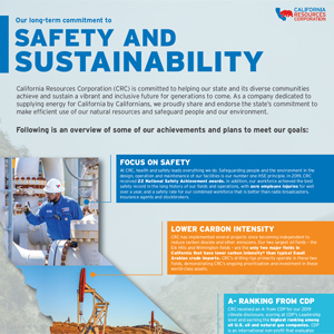 CRC's Long-Term Commitment to Safety and Sustainability